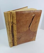 Vintage Bamboo bound Artist Sketch Book Thick Pulp paper Leaf cover