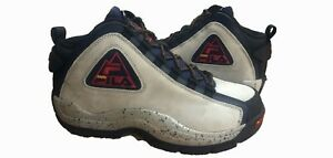 Fila Men's Grant Hill 2 Outdoor Hightop Navy White Ebony Black Eggplant Shoes