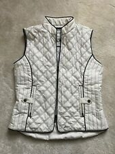Joules White Quilted Bodywarmer Size M