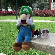 Sanei Super Mario Series Luigi's Mansion Plush Toy Luigi Scared w/ Strobulb 18CM