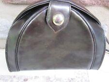 Sharif Vintage Dark Green Leather Clutch/ Crossbody/ Shoulder Bag