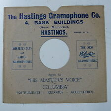 """78rpm 10"""" card gramophone record sleeve / cover THE HASTINGS GRAMOPHONE CO."""