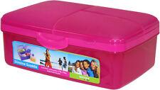 Sistema Slimline Quaddie Lunch Box 1.5Ltr Pink Multi Compartment BPA Free School