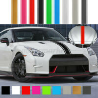 6''x72'' Universal Racing Car Side Stripes Vinyl Pinstripe Hood Sticker  *