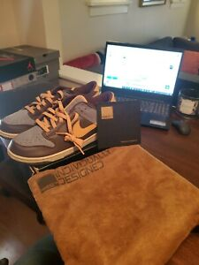NIKE DUNK LOW BROWN/BLUE 312221-991  Men's Size 9.5 2005 RARE DS