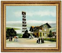 Ölbild ÜTLIBERG Utokulm 1903,historisch Gemälde HANDGEMALT F:50x60cm