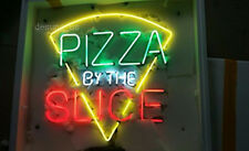 """New Pizza By The Slice Open Light Neon Sign 24""""x20"""""""