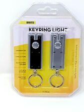 2x LED KEYRING TORCHES Super Bright Light Keychain Flashlight Camping/Hiking
