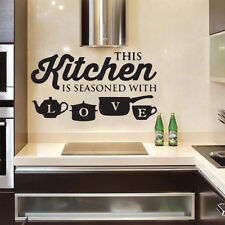 Removable KITCHEN Letter Wall Sticker Vinyl Removable Decal Art Mural Home Decor