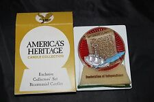 America's Heritage Bicentennial Candle Collection Declaration of Independence