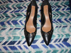 NICE DESIGN High heels NINE WEST leather upper black size 8.5M NEW/NO BOX