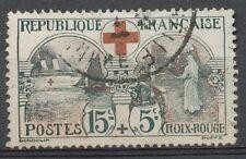 Croix-Rouge. N°156, 15c.+5c. noir/rouge Oblitéré TB + TBC. SIGNE COTE 105€ J112