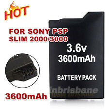 3600mAh Replacement For Sony PSP Battery Rechargeable SLIM 2000/3000 Console
