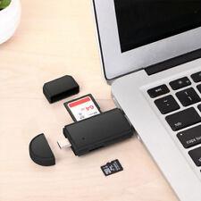 3in1 USB-C Type C USB 2.0 Micro USB OTG SD TF Card Reader High Speed Transfer
