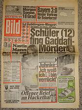 Bild Zeitung 15.4.1985, Nastassja Kinski, Burt Lancaster, Sophia Loren