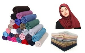Good Quality Jersey Scarf Shawl Wrap Hijab Stretchy Big Large Plain Lycra Maxi