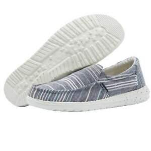 Hey Dude MISTY Shoes - Chambray Stripes Blue - UK 4
