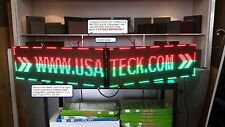 """2 Full Color LED Sign 37"""" x 13""""  OUTDOOR Programmable (Master-Slave) USA"""