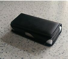 Universal Leather (Black) Mobile Phone Case/Pouch with Belt Clip - Small