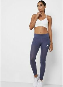Women's Nike Air 7/8 Mesh Training Tights Size XS PURPLE