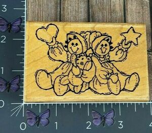 Stampendous Fun Stamps Country Cousins Rubber Stamp 1990 M22 Wood #AC89