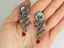Serpent and Sunflower Hand Cast. Sterling Silver & Coral. Mexico. Frida Kahlo