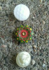 Vintage Cameo and painted green glass buttons.