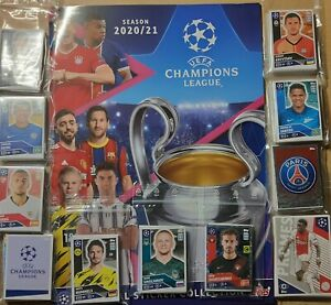 TOPPS CHAMPIONS LEAGUE 2020/21 NEU !! KOMPLETT ALLE- STICKER + LEERALBUM