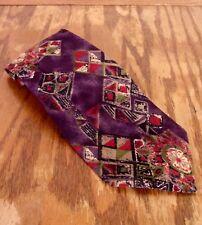 "vtg Christian Dior Monsieur Multi Color Artsy Abstract Men's Silk Tie 58"" 3.75"""