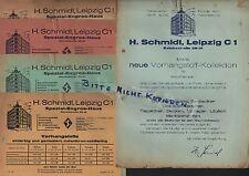 LEIPZIG, Prospekt 1930, H. Schmidt Spezial-Engros-Haus Vorhang-Markisen-Stoffe