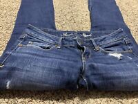 AE AMERICAN EAGLE OUTFITTERS SKINNY STRETCH WOMENS JEANS SIZE 0 S