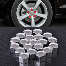 Silver Wheel For Audi A4 A5 A6 VW Lug Bolt Center Nut Covers Caps 321601173A