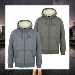 Men Tokyo Laundry Sherpa Lined Hoodie Sweatshirt 1E9703