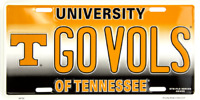 TENNESSEE VOLUNTEERS GO VOLS EMBOSSED METAL NOVELTY LICENSE PLATE TAG