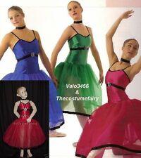 Midnight Concerto Dance Costume Red Ballet Romantic Tutu Clearance Child Small