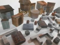 Downtown Deco HO Scale 40 Piece Unpainted Building  Detail Vents Chimneys Sheds
