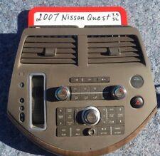 07 08 09 NISSAN QUEST DUEL DUAL CLIMATE CONTROL RADIO DASH BEZEL WOODGRAIN TRIM