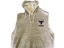 Men's Under Armour Project Rock Terry Sleeveless Sports Hoodie Sweatshirt Med