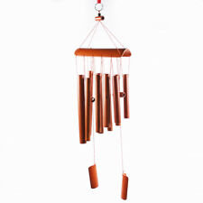 Wind Chime-Bamboo Large Brown Wooden Melody Wind Chime Garden Ornament Feng Shui