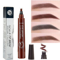 Microblading Eyebrow Tattoo Pen Waterproof 4 Fork Tip Sketch Makeup Ink Beauty