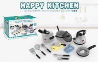 Kids Pretend Play Set Kitchen Cooking Utensils Pot Pan Accessories Toy Gift Girl