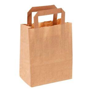 Papiertragetaschen 22+10x28 cm Papiertüten braun Papier Tragetaschen Taschen