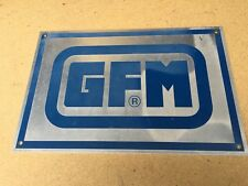 16.5 x 11 inch Aluminum sign - GFM (Industrial) - Blue and Silver