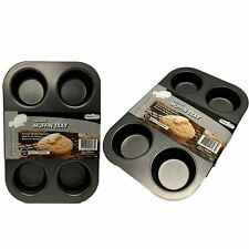 2x 6 Cup Muffin Cupcake Pan Tin Cake Non Stick Baking Tray Bakeware
