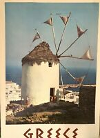 Original Vintage travel Poster GREECE Mid Century 1950s -1960