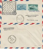 US 1946 FIRST FLIGHT FLOWN COVER MUSKOGEE OKLAHOMA TO FORT SMITH ARKANSAS