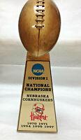 "UNIVERSITY OF NEBRASKA CORNHUSKERS NCAA NATIONAL CHAMPION FOOTBALL TROPHY 10"""