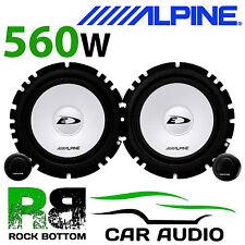 """ALPINE BMW 3 SERIES E46 1998-05 6.5"""" 17cm 560W Component Front Door Car Speakers"""