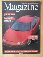 CITROEN primera línea 1991 Invierno Reino Unido MKT internamente REVISTA folleto-Luz 15 ZX
