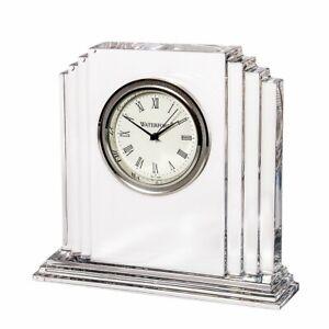 Waterford Metropolitan Medium Lead Crystal Clock 108372 New in Box Papers